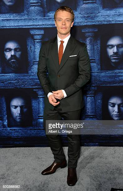 Actor Alfie Allen arrives for the Premiere Of HBO's 'Game Of Thrones' Season 6 held at TCL Chinese Theatre on April 10 2016 in Hollywood California