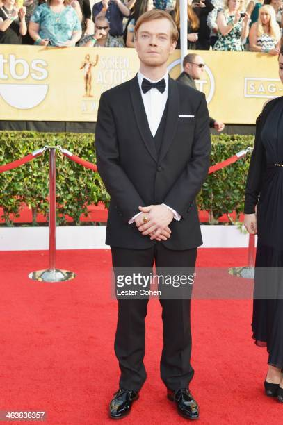 Actor Alfie Allen attends the 20th Annual Screen Actors Guild Awards at The Shrine Auditorium on January 18 2014 in Los Angeles California