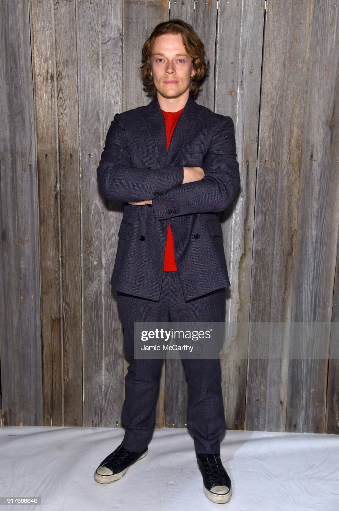 Actor Alfie Allen attends the Calvin Klein Collection during New York Fashion Week at New York Stock Exchange on February 13, 2018 in New York City.