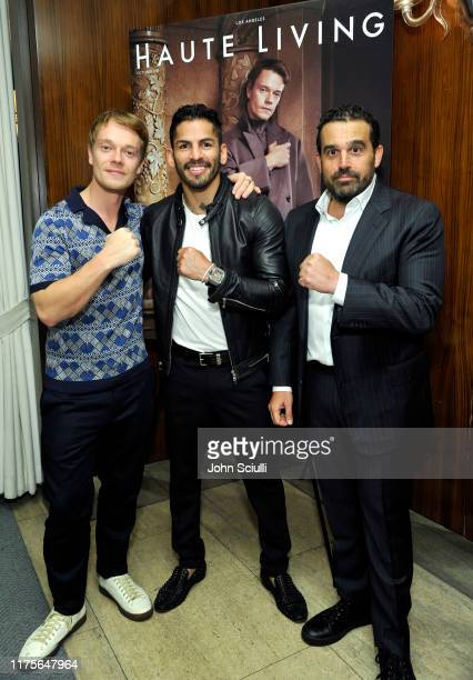 Actor Alfie Allen, Boxer Jorge Linares and Publisher Seth Semilof attend Haute Living honoring Alfie Allen with Louis XIII powered by XO on September...