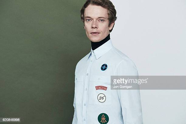 Actor Alfie Allen is photographed for the Observer on August 10, 2016 in London, England.