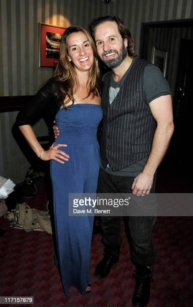 Actor Alfie Boe and wife Sarah attend a postshow drinks reception following Matt Lucas and Alfie Boe's debut performance in the West End production...