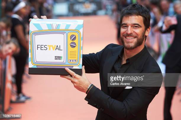Actor Alfonso Bassave attends 'Estoy Vivo' premiere at the Principal Teather during the FesTVal 2018 on September 4, 2018 in Vitoria-Gasteiz, Spain.