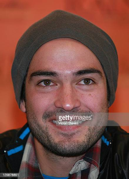 Actor Alfonso Herrera attends the 'Rainman' Theatre Press Conference at the W Mexico City on November 8 2010 in Mexico City Mexico