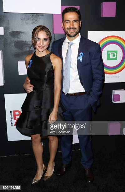 Actor Alfonso Herrera from Sense 8 and guest attend the 2017 Village Voice Pride Awards at Capitale on June 21 2017 in New York City