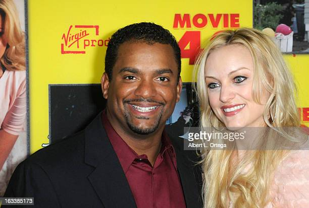 Actor Alfonso Ribeiro and Angela Unkrich arrive for the Los Angeles Premiere of Movie 43 held at Grauman's Chinese Theaterl on January 23 2013 in...
