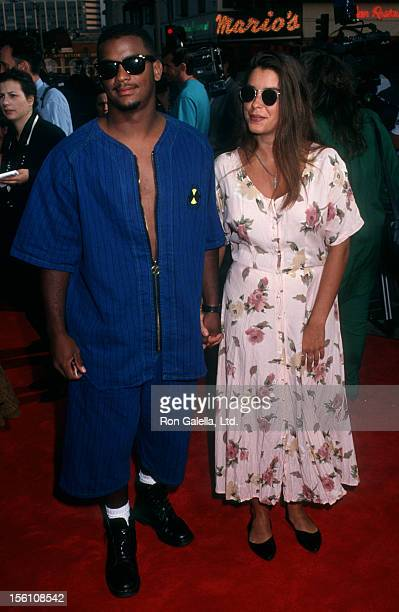 Actor Alfonso Ribeiro and date attending the premiere of 'Buffy The Vampire Slayer' on July 29, 1992 at Mann Village Theater in Westwood, California.
