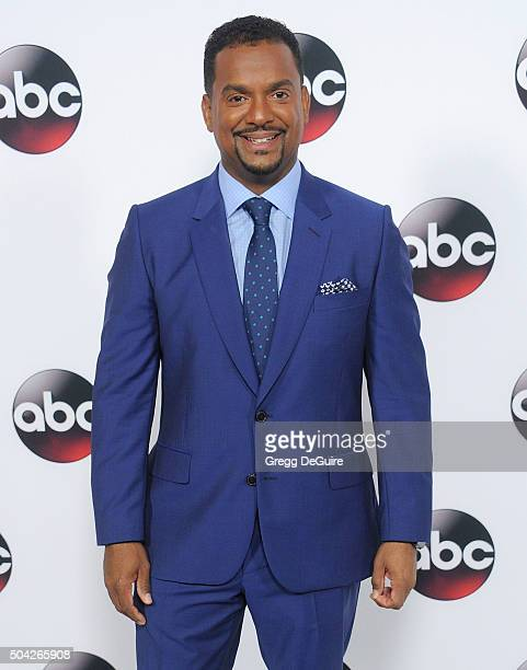 Actor Alfonso Ribeiro arrives at the 2016 Winter TCA Tour - Disney/ABC at Langham Hotel on January 9, 2016 in Pasadena, California.
