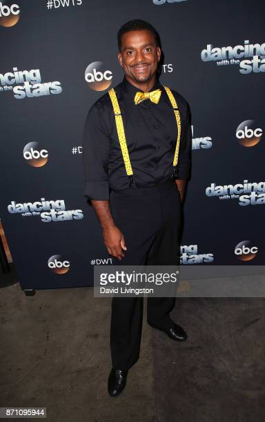 Actor Alfonso Ribeiro poses at 'Dancing with the Stars' season 25 at CBS Televison City on November 6 2017 in Los Angeles California