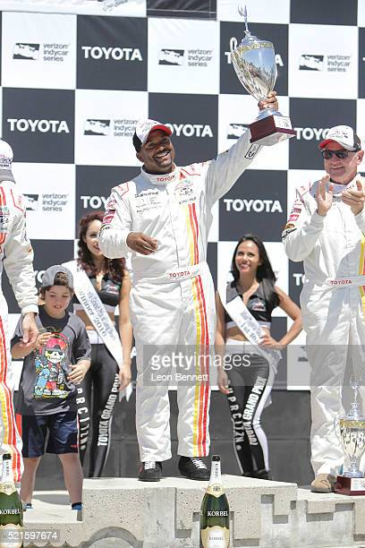 Actor Alfonso Ribeiro this years 1st place winner of the 42nd Toyota Grand Prix Of Long Beach Pro/Celebrity Race Day on April 16 2016 in Long Beach...