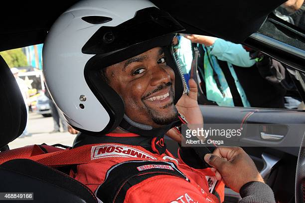 Actor Alfonso Ribiero participates in press day for Pro/Celebrity Race at Toyota Grand Prix of Long Beach on April 7 2015 in Long Beach California