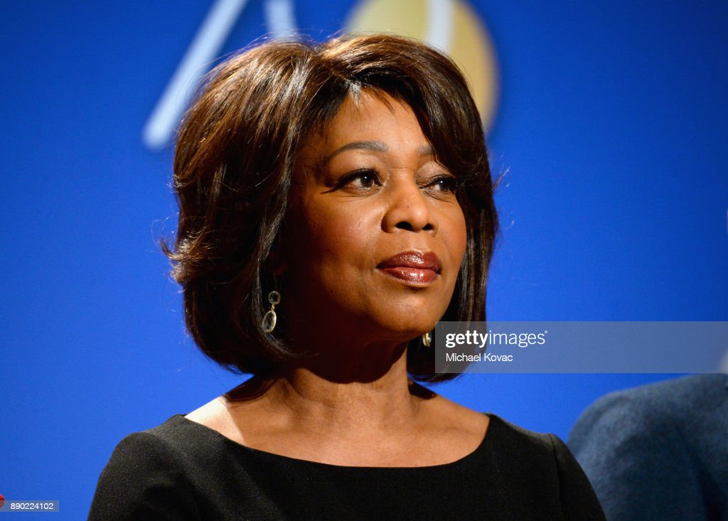 Actor Alfre Woodard speaks during Moet & Chandon Toasts The 75th Annual Golden Globe Awards Nominations at The Beverly Hilton Hotel on December 11, 2017 in Beverly Hills, California.