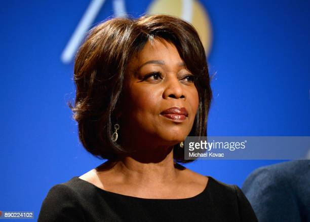Actor Alfre Woodard speaks during Moet Chandon Toasts The 75th Annual Golden Globe Awards Nominations at The Beverly Hilton Hotel on December 11 2017...