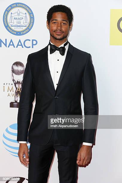 Actor Alfred Enoch attends the 47th NAACP Image Awards presented by TV One at Pasadena Civic Auditorium on February 5 2016 in Pasadena California