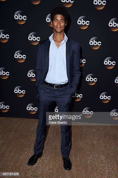 Actor Alfred Enoch attends the Disney/ABC Television Group 2014 Television Critics Association Summer Press Tour at The Beverly Hilton Hotel on July...