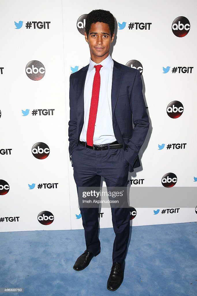 Actor Alfred Enoch attends the TGIT Premiere event at Palihouse on September 20, 2014 in West Hollywood, California.