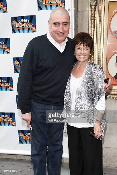 Actor Alfred Molina and Jill GascoineMolina attend the opening of Lend Me A Tenor at the Music Box Theatre on April 4 2010 in New York City