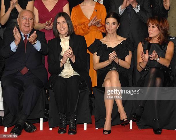 Actor Alfredo Landa Angeles Gonzalez Sinde actress Maribel Verdu and director Gracia Querejeta attend the Goya Cinema Awards Nominated Gala at Casa...