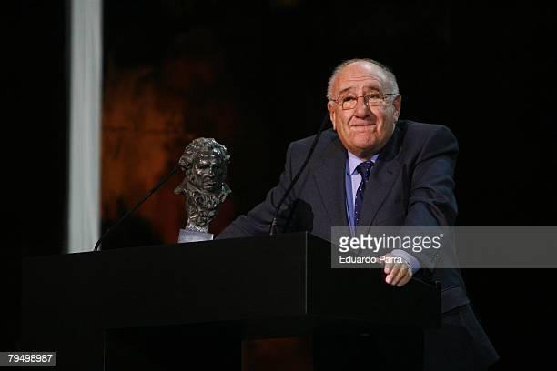 Actor Alfredo Landa during the Goya 2008 Cinema Awards Ceremony at the Palacio de Congresos on Febraury 3 2008 in Madrid Spain