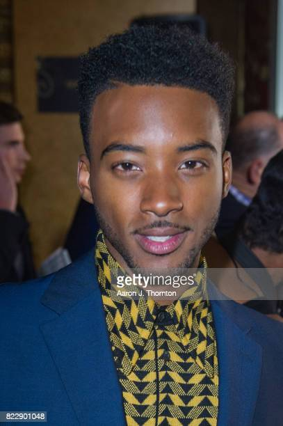 Actor Algee Smith arrives at the premiere for 'Detroit' at the Fox Theater on July 25 2017 in Detroit Michigan