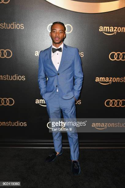 Actor Algee Smith attends Amazon Studios' Golden Globes Celebration at The Beverly Hilton Hotel on January 7 2018 in Beverly Hills California