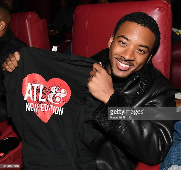 Actor Algee Smith attends BET's Atlanta screening of 'The New Edition Story' at AMC Parkway Pointe on January 5 2017 in Atlanta Georgia