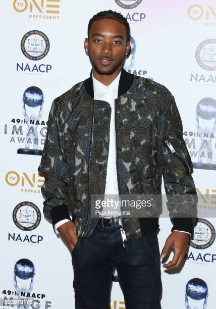 Actor Algee Smith attends the 49th NAACP Image Awards Nominees' luncheon at The Beverly Hilton Hotel on December 16 2017 in Beverly Hills California