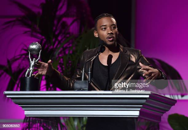 Actor Algee Smith attends the 49th NAACP Image Awards NonTelevised Award Show at The Pasadena Civic Auditorium on January 14 2018 in Pasadena...