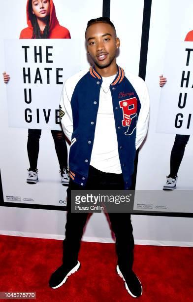 Actor Algee Smith attends The Hate U Give Atlanta Red Carpet Screening at Regal Atlantic Station on October 3 2018 in Atlanta Georgia