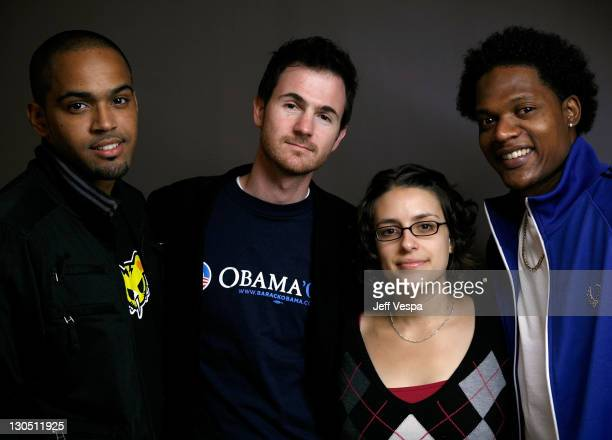 Actor Algenis Perez Soto directors Ryan Fleck Anna Boden and actor Rayniel Rufino pose for a portrait during the 2008 Toronto International Film...