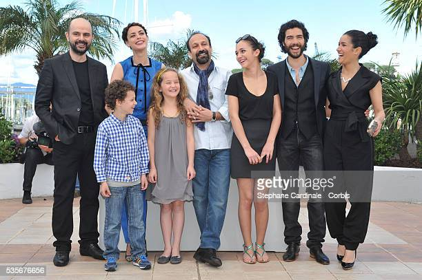 Actor Ali Mosaffa actor Elyes Aguis actress Berenice Bejo actress Jeanne Jestin director Asghar Farhadi Pauline Burlet and actor Tahar Rahim attend...