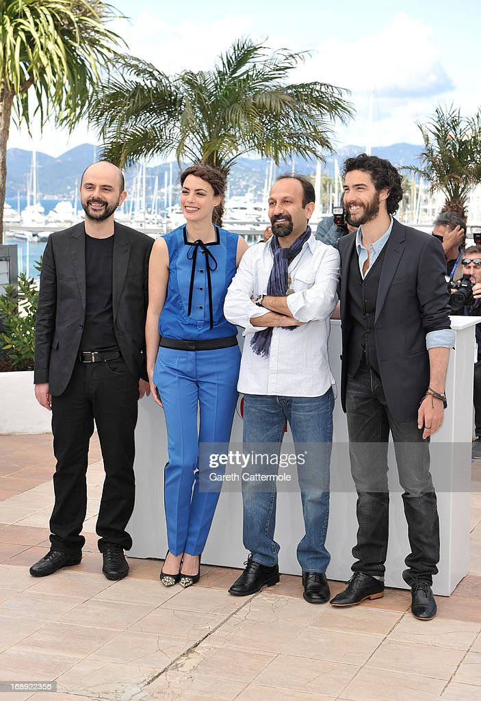 Actor Ali Mosaffa, actress Berenice Bejo, director Asghar Farhadi and actor Tahar Rahim attend 'Le Passe' photocall during the 66th Annual Cannes Film Festival at the Palais des Festivals on May 17, 2013 in Cannes, France.