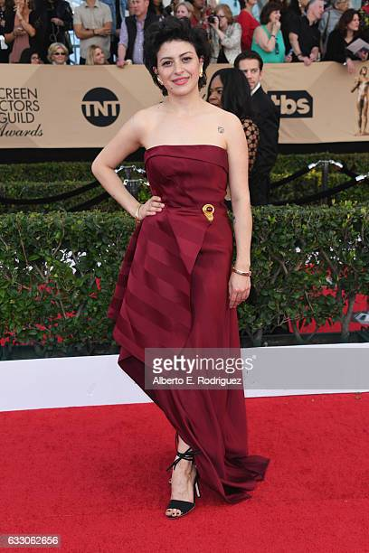 Actor Alia Shawkat attends the 23rd Annual Screen Actors Guild Awards at The Shrine Expo Hall on January 29 2017 in Los Angeles California