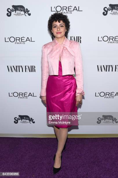 Actor Alia Shawkat attends Vanity Fair and L'Oreal Paris Toast to Young Hollywood hosted by Dakota Johnson and Krista Smith at Delilah on February 21...