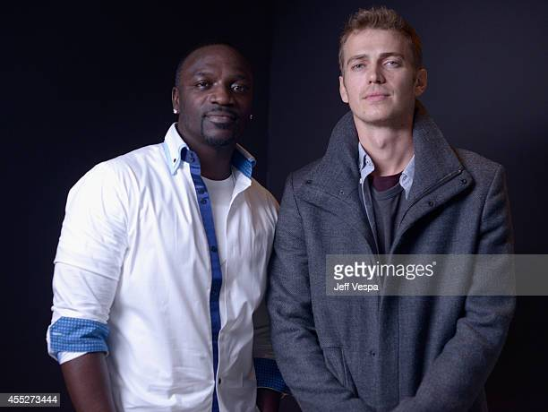 Actor Aliaune AKON Thiam and actor Hayden Christensen of American Heist pose for a portrait during the 2014 Toronto International Film Festival on...
