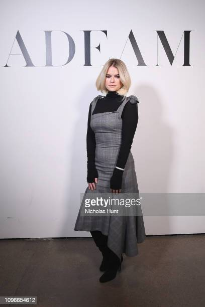 Actor Alice Eve attends the Adeam FW19 front row during New York Fashion Week The Shows at Gallery II at Spring Studios on February 9 2019 in New...