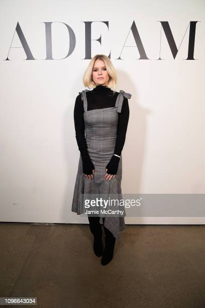Actor Alice Eve poses backstage for Adeam fashion show during New York Fashion Week The Shows at Gallery II at Spring Studios on February 9 2019 in...
