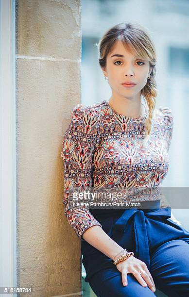 Actor Alice Isaaz is photographed for Paris Match on March 14 2016 in Paris France