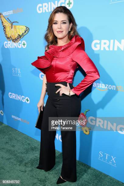 Actor Alicia Machado attends the world premiere of 'Gringo' from Amazon Studios and STX Films at Regal LA Live Stadium 14 on March 6 2018 in Los...
