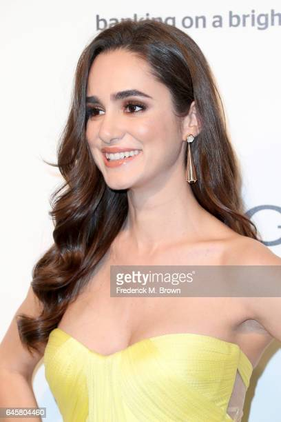 Actor Alicia Sanz attends the 25th Annual Elton John AIDS Foundation's Academy Awards Viewing Party at The City of West Hollywood Park on February 26...