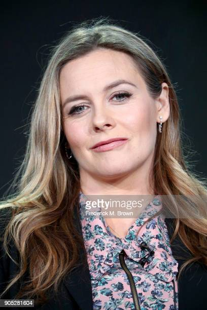 Actor Alicia Silverstone of 'American Woman' speaks onstage during the Paramount Network portion of the 2018 Winter Television Critics Association...