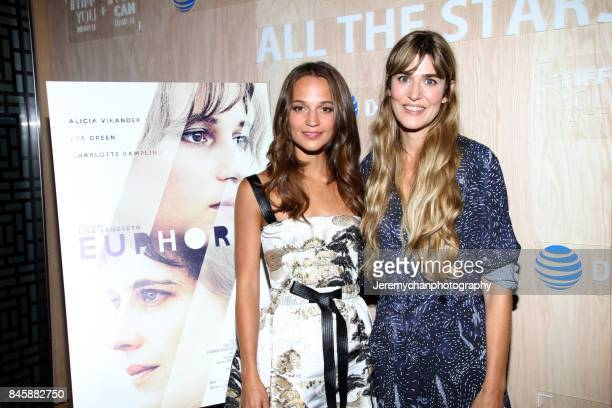 Actor Alicia Vikander and director Lisa Langseth attend the 'Euphoria' After Party held at Momofuku Daisho during the 2017 Toronto International Film...