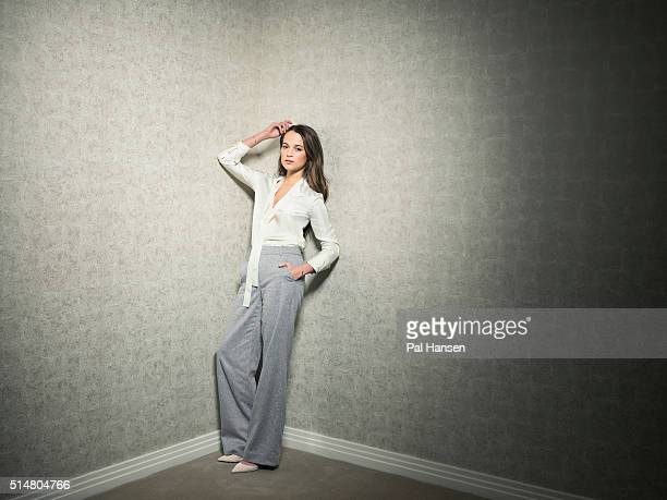 Actor Alicia Vikander is photographed for the Observer on December 7 2015 in London England