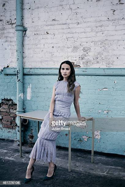 Actor Alicia Vikander is photographed for the Telegraph on July 18 2014 in London England