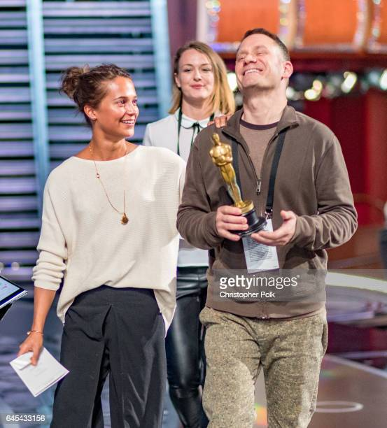 Actor ALICIA VIKANDER on stage during rehersals for the 89th Annual Academy Awards at Hollywood Highland Center on February 25 2017 in Hollywood...