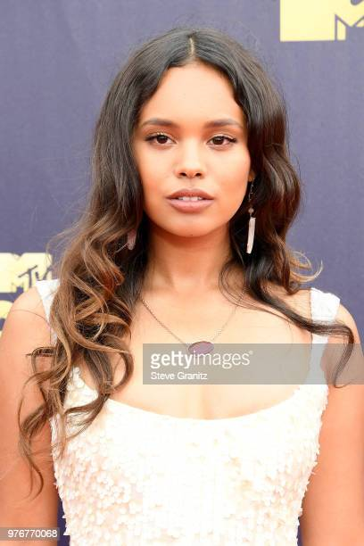 Actor Alisha Boe attends the 2018 MTV Movie And TV Awards at Barker Hangar on June 16 2018 in Santa Monica California