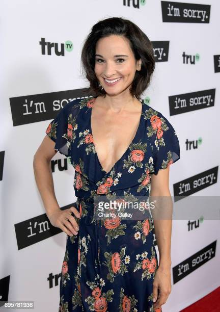 "Actor Alison Becker at the premiere screening of truTV's new scripted comedy ""I'm Sorry"" at the SilverScreen Theater at the Pacific Design Center on..."