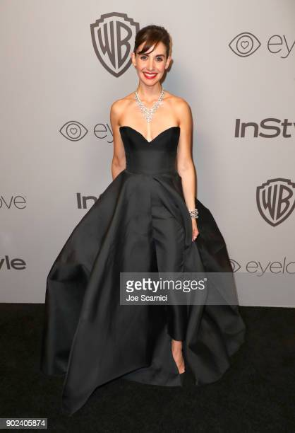 Actor Alison Brie attends the 2018 InStyle and Warner Bros 75th Annual Golden Globe Awards PostParty at The Beverly Hilton Hotel on January 7 2018 in...