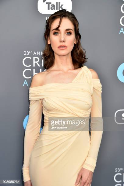 Actor Alison Brie attends The 23rd Annual Critics' Choice Awards at Barker Hangar on January 11 2018 in Santa Monica California