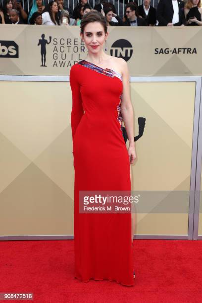 Actor Alison Brie attends the 24th Annual Screen Actors Guild Awards at The Shrine Auditorium on January 21 2018 in Los Angeles California 27522_017